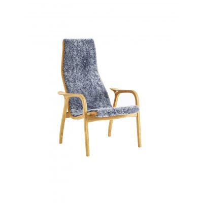 Lamino Easy Chair Walnut Natural Lacquer, Black Coloured Saddle Leather