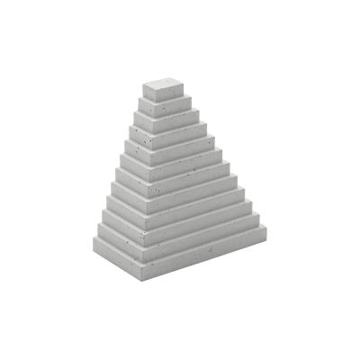 Landmarks Bookend - Set of 2 Light grey