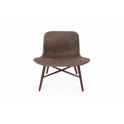 Langue Original Lounge Chair, Leather - Dark Stained Black Premium Leather