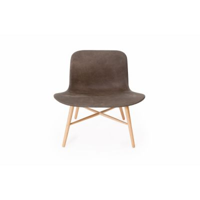 Langue Original Lounge Chair, Natural - Leather Black Premium Leather