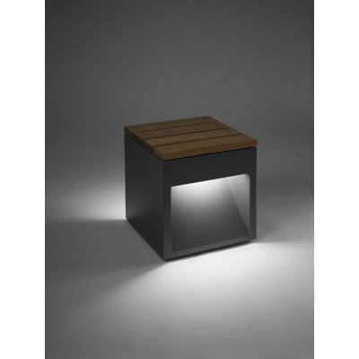 Lap Bench Outdoor Light Fluorescent, Rust, Portable