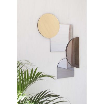 Layer Mirrors, Metalics Set of four mirrors