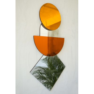Layer Mirros, Amber Set of four Mirrors
