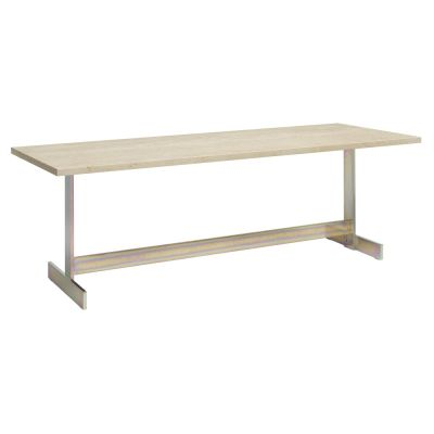 Lazlo Rectangular Side Table White Pigmented, Oiled Oak