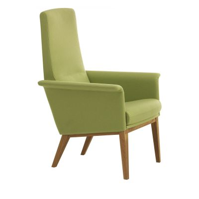 Lazy Easy Chair High Back Oak Natural Lacquer, Elmo Nordic 00105
