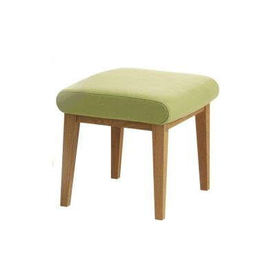 Lazy Foot Stool Beech Natural Lacquer, Main Line Flax Newbury