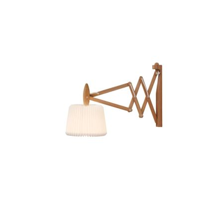 Le Klint 223-120 Wall Light Smoked Oak/White Plastic Shade