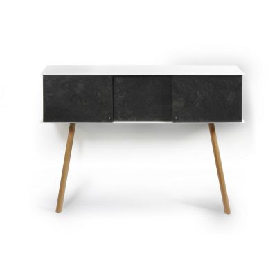 "Leaning sideboard ""Anlehnschrank LS-01 - Slate"" Oiled oak wood legs (= natural)"