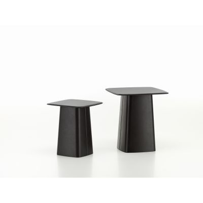 Leather Side Table Chocolate, Medium