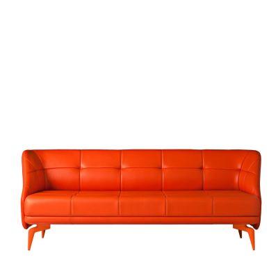 Leeon Three-Seater Sofa Cairo - Bianco 01