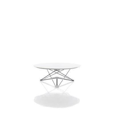 Lem Adjustable Dining Table White, Chromed