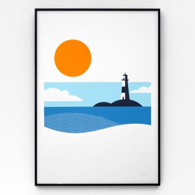 Lighthouse A2 Screen Print