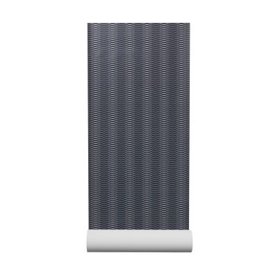 Liinus Wallpaper  - Set of 6 Dark Blue with Grey Lines