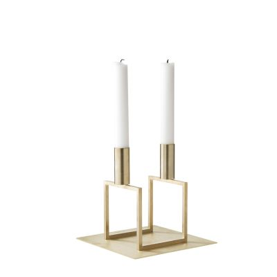 Line Candleholder - Set of 3 Brass-plated