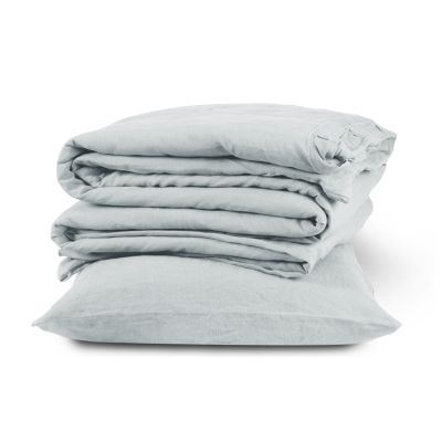 Linen Duvet Cover Dove Grey, King Size