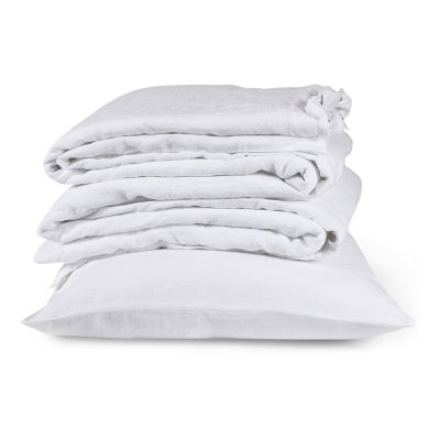 Linen Fitted Sheets Single