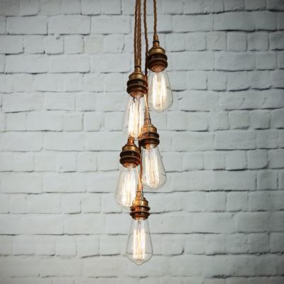 Lome Cluster Pendant Light Antique Brass
