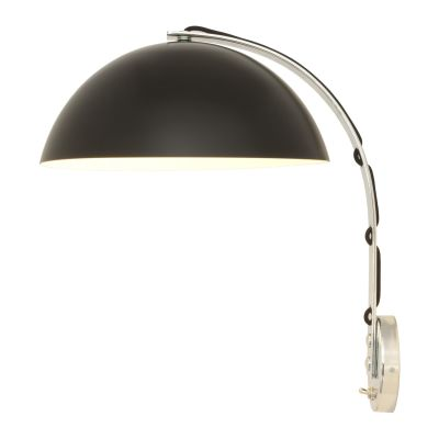 London Wall Light Black with Chrome