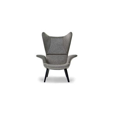 Longwave Armchair - New Charcoal, A4260 - Linen Deep Black - S