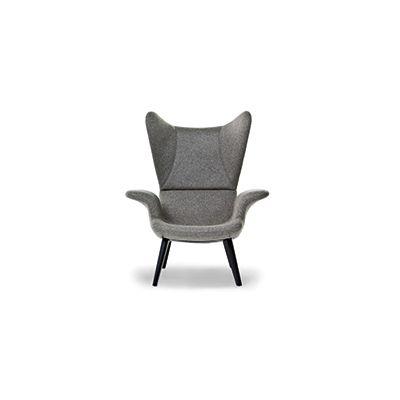 Longwave Armchair Charcoal, A4260 - Linen Deep Black - S