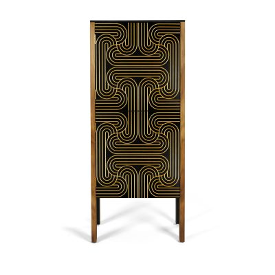 Loop Cabinet  Gold, High