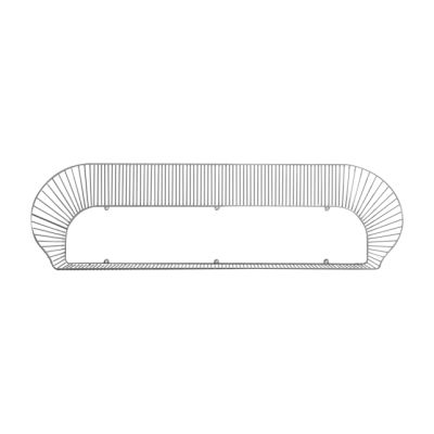 Loop Shelf Black, RAL 9005, 120 cm