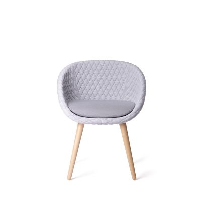 Love Dining Chair Moooi Black Stained, Pluch White