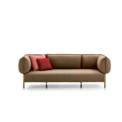 Love (me) Tender Sofa - New A7365 - Units 3 Art.350 white, Oxidored, 294 x 83 cm