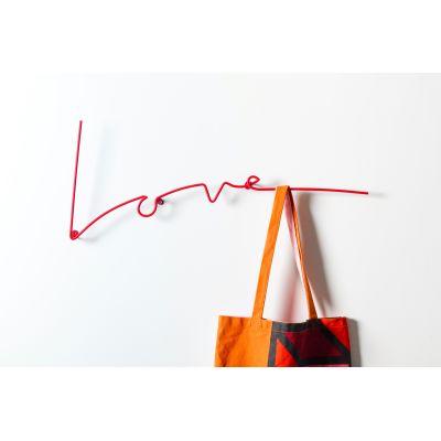 Love Typographic Coat Rack Love Coat Rack Red