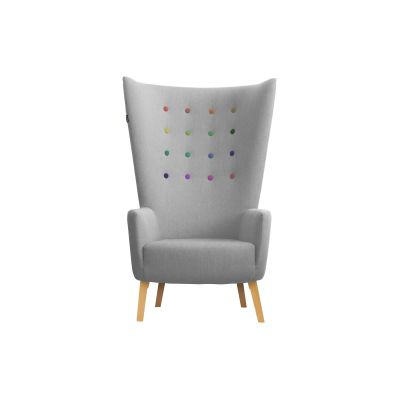 LovedUp Lounge Chair Ingleston Amazon, Bespoke Stained Beech, Mixed Colours