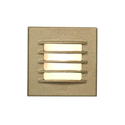 Low Voltage Recessed Step Light Bead Blasted Bronze, 12 DC