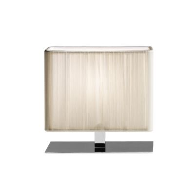 LT Clavius Table Lamp 20 x 10 x 17, White, Chrome