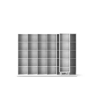 LTL430 Literatura Light Bookcase White Open Pore Lacquered On Oak, White Open Pore Lacquered On Oak