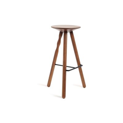 Luco Bar Stool 75 cm, Stained Walut