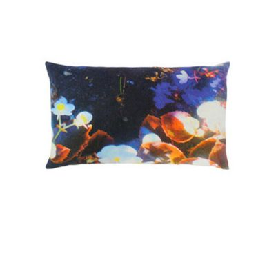 Luminous Lily & Violet Rectangular Cushion