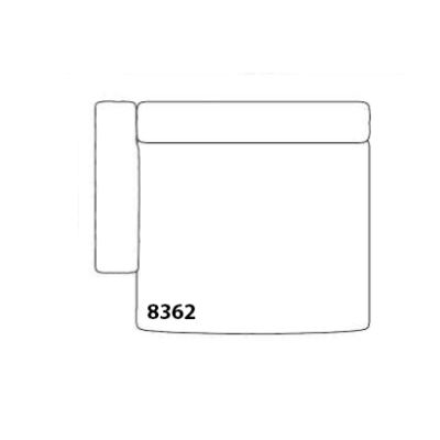 Mags Chaise Lounge Extra Wide Modular Element 8362 - Left Compound 0001