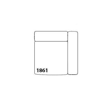 Mags Corner Modular Seating Element 1861 - Right Leather California CA5001 Black