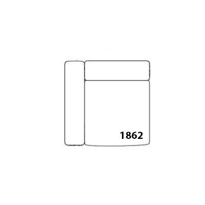 Mags Corner Modular Seating Element 1862 - Left Leather California CA5001 Black