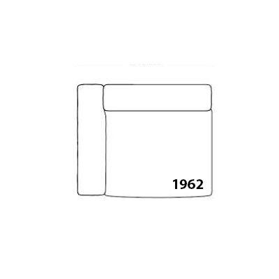 Mags Modular Seating Element 1962 - Left Leather California CA5004 Dark Brown