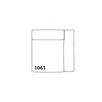 Mags Narrow Modular Seating Element 1061 - Right Leather California CA5001 Black