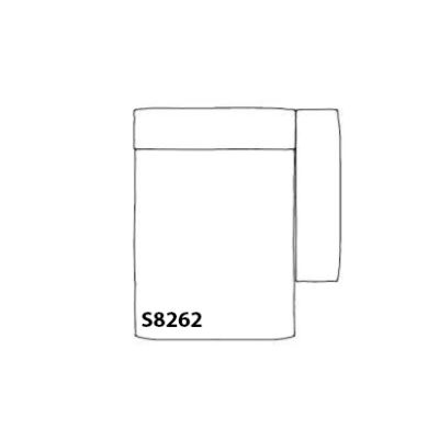 Mags Soft Chaise Lounge Short Modular Element S8262 - Left Rime 111