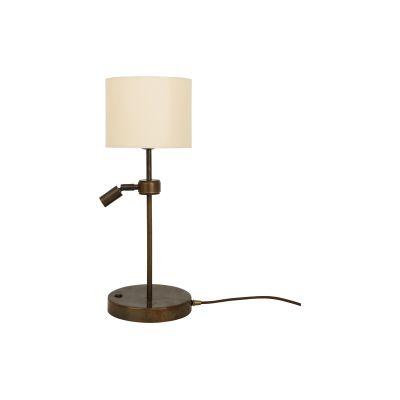 Malton Table Lamp Satin Brass, UL Plug