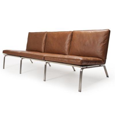 Man 3 Seater Sofa Dark Brown Vintage Leather
