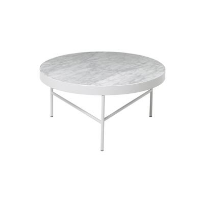 Marble Side Table - Large White Bianco Carra
