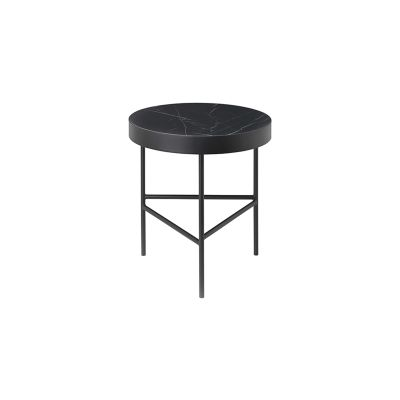 Marble Side Table - Medium Black Marquina