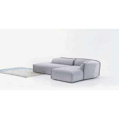 M.a.s.s.a.s Seating Element - New A4289 - Surfaces 1 Remix 133 grey, Left Element