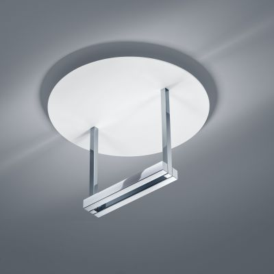 Mata Ceiling Light White Matt - Chrome