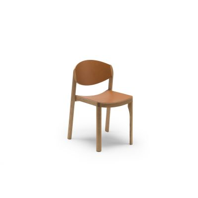 Mauro Dining Chair Oak, Leather