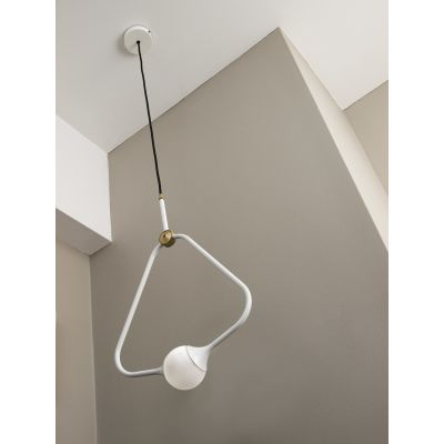 Medal Pendant Light White