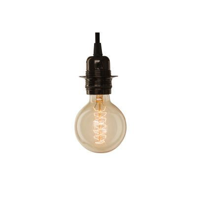 Medium Globe Spiral Light Bulb